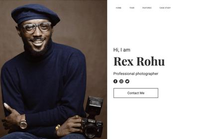 Photographer Portfolio Template Kit - ROHU
