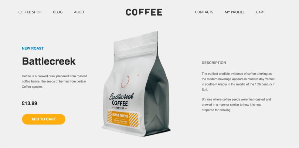 Battlecreek coffee page