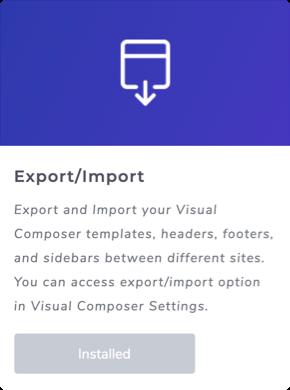 Export/Import Addon