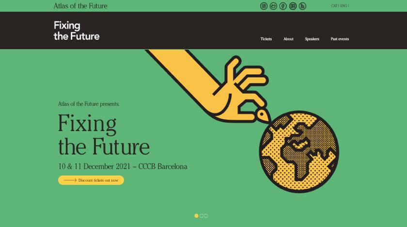 Atlas of the Future website example