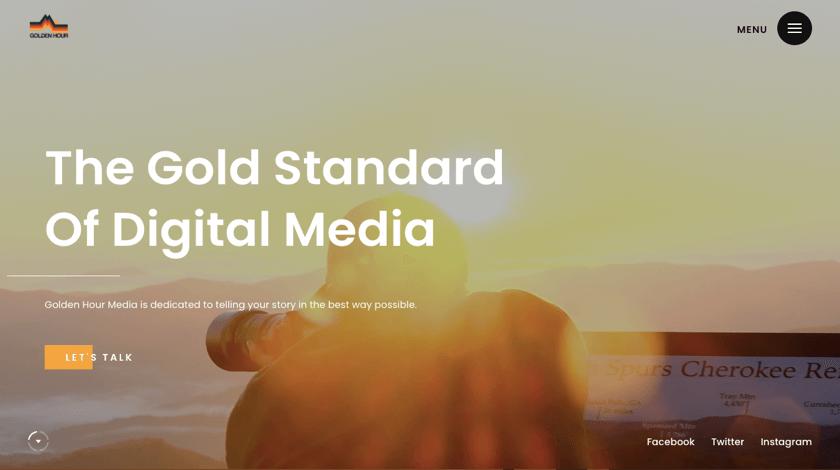Golden Hour Media website example