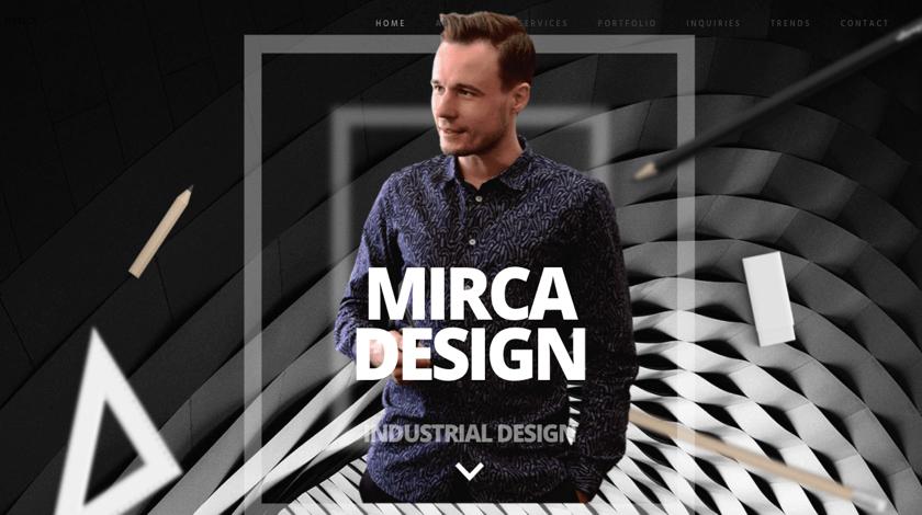 Mirca Design website example