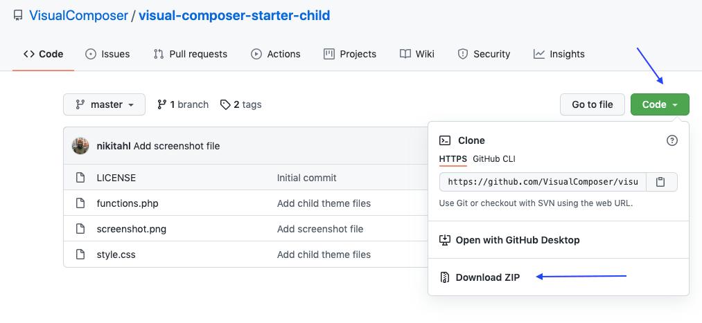Visual Composer Starter Child Theme