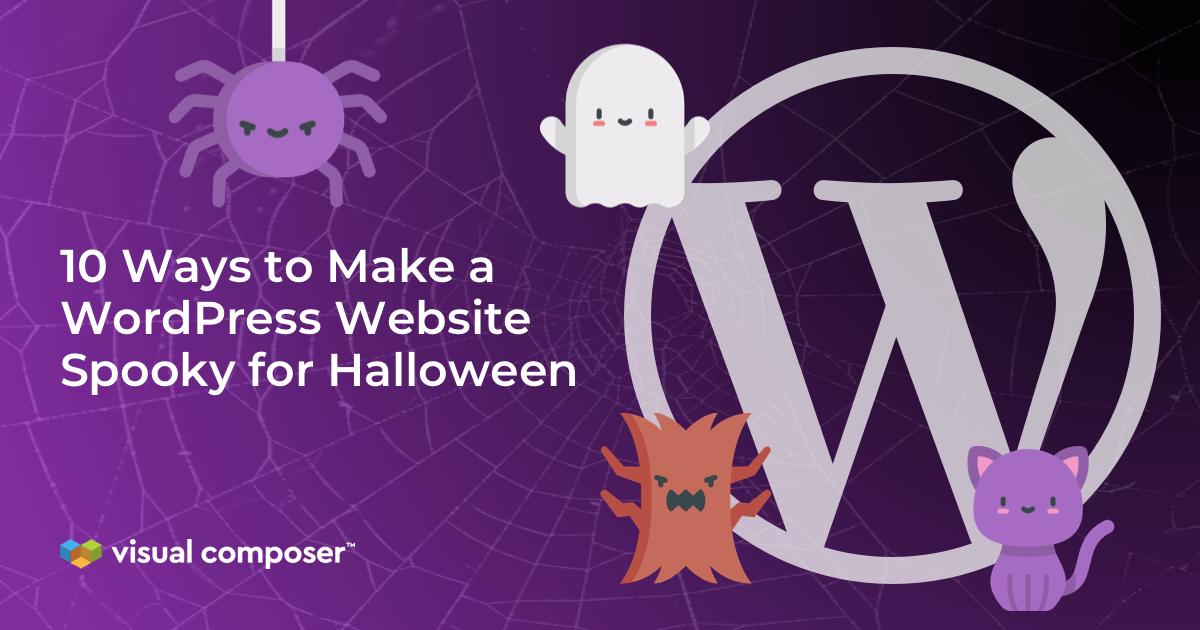 Halloween tutorial for WordPress websites by Visual Composer