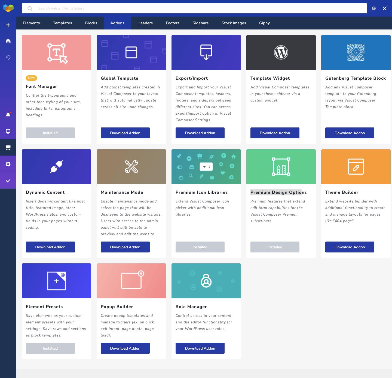Visual Composer Hub Addons